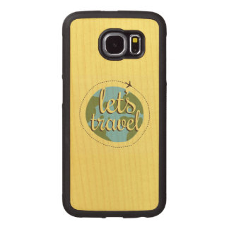 Lets Go Travel Wood Phone Case