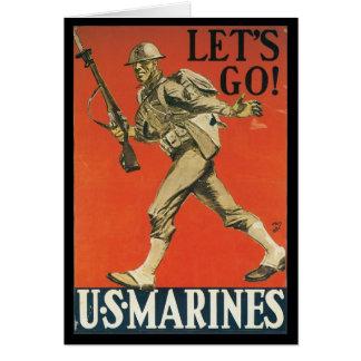 Let's Go World War II Greeting Card