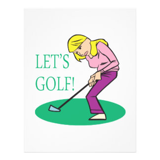 Lets Golf 21.5 Cm X 28 Cm Flyer