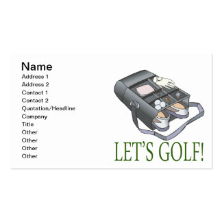 Lets Golf Business Card Template