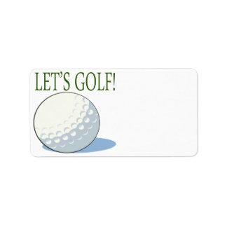 Lets Golf Label