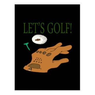 Lets Golf Postcard