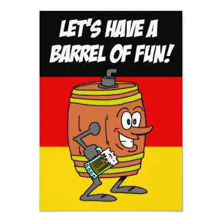 Let's Have  A Barrel Of Fun Oktoberfest Invite