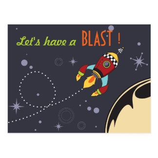 Let's have a Blast Birthday Invites Postcard