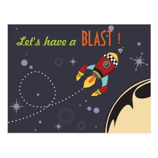 Let's have a Blast Birthday Invites Postcard