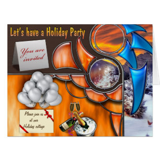 Let's have a Holliday Party Big Greeting Card