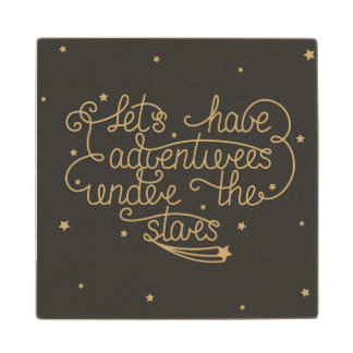 Lets Have Adventures Wood Coaster