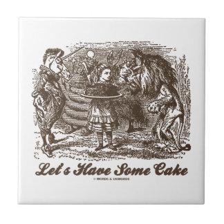 Let's Have Some Cake (Alice Unicorn Lion) Tile