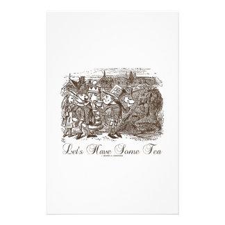 Let's Have Some Tea (Wonderland Alice) Stationery Paper