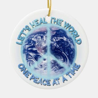 Let's heal the World Christmas Ornament