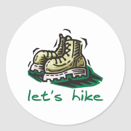 Let's Hike Green Stickers