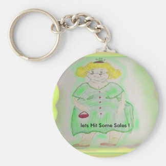 lets Hit Some Sales ! Basic Round Button Key Ring