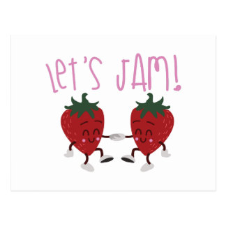 Lets Jam Postcard