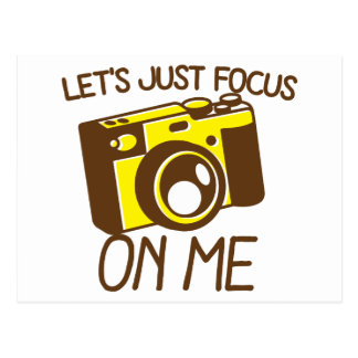 Let's just FOCUS on me! with vintage camera Postcard