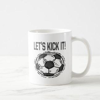 Lets Kick It Basic White Mug