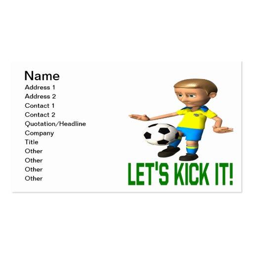 Lets Kick It Business Card Templates