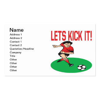 Lets Kick It Business Card Template