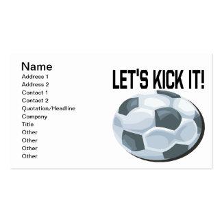 Lets Kick It Business Card