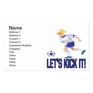 Lets Kick It Pack Of Standard Business Cards