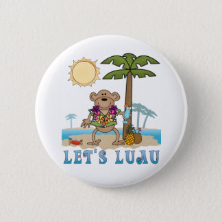Lets Luau (Boy Monkey) 6 Cm Round Badge