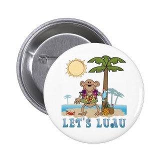 Lets Luau (Boy Monkey) Buttons