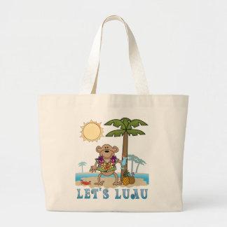 Lets Luau (Boy Monkey) Tote Bags