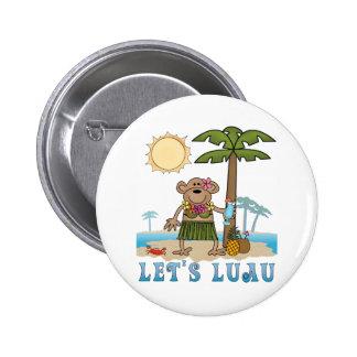 Lets Luau (Girl Monkey) 6 Cm Round Badge