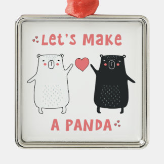 let's make a panda christmas ornament