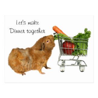 Let's make dinner together postcard