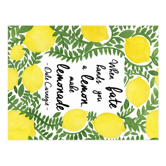 Let's Make Lemonade Postcard