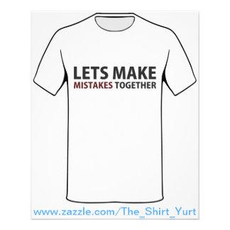 Lets Make Mistakes Together Custom Flyer