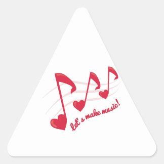 Let's Make Music! Triangle Sticker