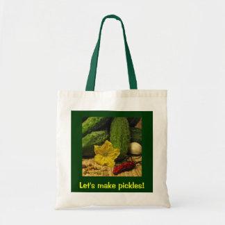 Lets Make Pickles Budget Tote Bag