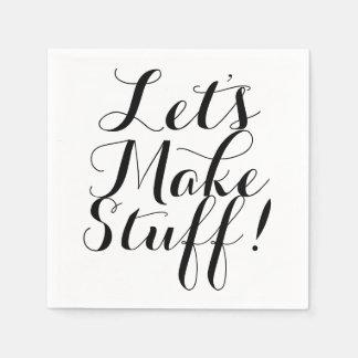 Let's Make Stuff • Craft Party Disposable Serviettes