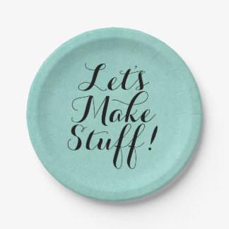 Let's Make Stuff • Craft Party Paper Plate