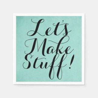 Let's Make Stuff • Craft Party Teal Paper Napkins