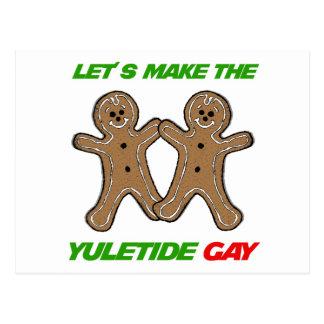 LET'S MAKE THE YULETIDE GAY -.png Postcard