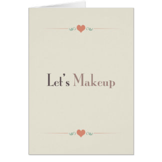 Let's Makeup Greeting Card