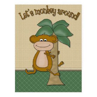 Lets Monkey Around Card Postcard