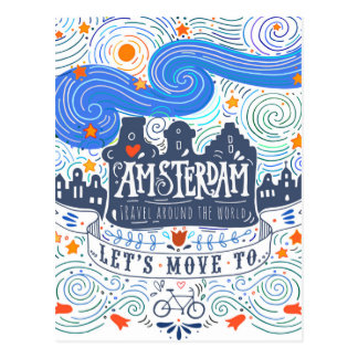 Let's Move To Amsterdam Postcard