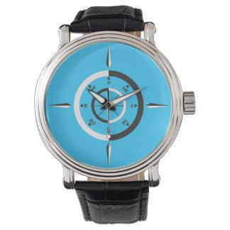 let's navigate - light blue wrist watch