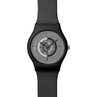 let's navigate - light grey - black wrist watch