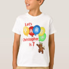 Let's Party 7th Birthday Bear Prince T-Shirt