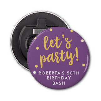 Let's Party Confetti, Purple Party Favor Bottle Opener