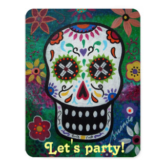 Let's Party DAY OF THE DEAD INVITATION