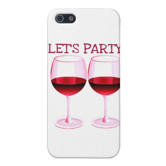 LET'S PARTY! FUN PARTY RED WINE PRINT COVERS FOR iPhone 5
