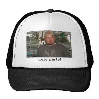 Lets party gear trucker hats