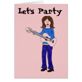 Let's Party Rocker Card