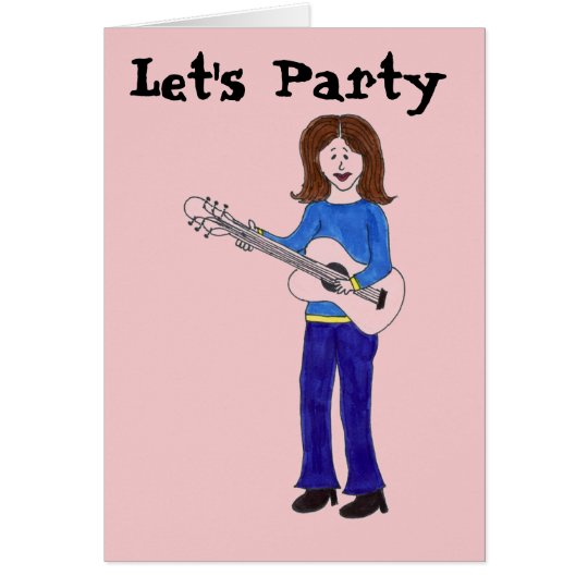 Let's Party Rocker Card