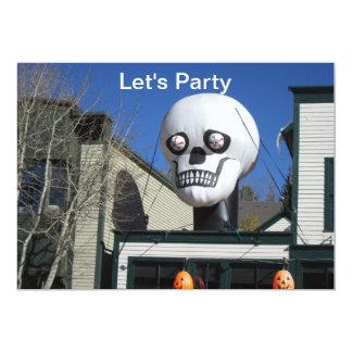 Let's Party Skull Invitation